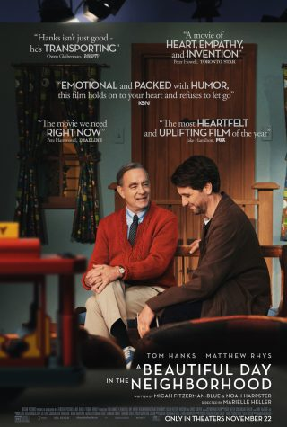 This stunning movie is about the long-lasting legacy of Mr. Rogers: a caring, loving, and kindhearted man whose influence upon the world will be endless. (https://www.movienewsletters.net/photos/280560R1.jpg)