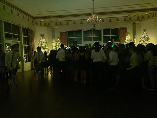This photo was taken just as students ran out of the mass of people to stop at the dessert table! (Alex Cordle/Sewickley Academy)